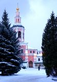 Колокольня монастыря St Даниеля в Москве Стоковое Изображение