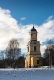 Колокольня на зимний день Стоковое Фото