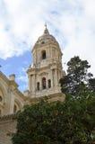 Колокольня собора Малаги (Испания) Стоковые Фотографии RF