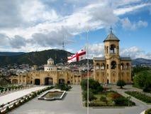 Колокольня собора святой троицы Sameba, Тбилиси Стоковая Фотография RF