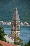 Колокольня церков St Nicholas, Perast Стоковое Изображение RF
