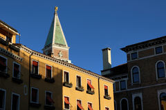 Колокольня di Сан Marco, ориентир ориентир Венеции, Италия Стоковое Изображение RF