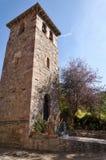 Колокольня Mozarabic церков St Mary de Lebeña (Испания) Стоковое Изображение