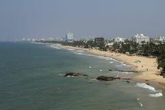 Коломбо, Шри-Ланка, береговая линия Индийского океана Стоковая Фотография