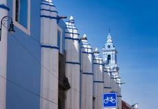 Колониальная барочная католическая церковь в Пуэбла, Мексике Стоковое фото RF