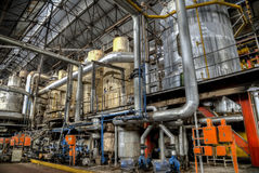 Колониальная фабрика сахара в Gondang Baru, Ява, Индонезии Стоковая Фотография