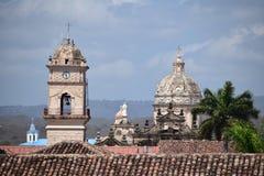 Колониальная церковь - Гранада Никарагуа Стоковое Изображение