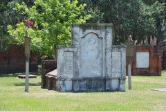 Колониальное кладбище парка стоковое изображение