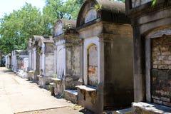 Колониальное французское кладбище в Новом Орлеане Стоковые Фото