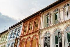Колониальные блоки наследия Чайна-тауна, Сингапура Стоковые Изображения RF