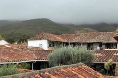 Колониальные деревенские крыши Стоковое Изображение