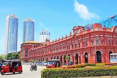 Колониальные здание и всемирный торговый центр, Шри-Ланка Коломбо Стоковое фото RF