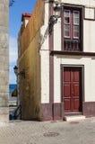Колониальный взгляд дома улицы в Santa Cruz, Ла Palma, канереечном Islan Стоковое Изображение