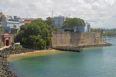 Колониальный вход к городу Сан-Хуана, Пуэрто-Рико Стоковая Фотография