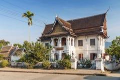 Колониальный дом в prabang luang в Лаосе Стоковое Изображение