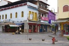 Колониальный dos Reis Angra городка в Бразилии Стоковые Фото