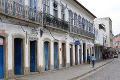 Колониальный dos Reis Angra городка в Бразилии Стоковые Фотографии RF