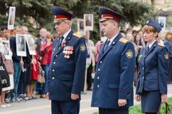 Колония высших должностных лиц штрафная на памятнике упаденных солдат Стоковое Изображение RF