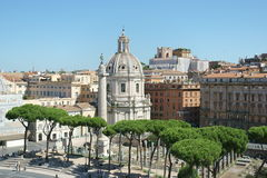 колонка Италия rome s trajan Стоковое Изображение RF