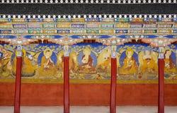Колоннада монастыря Thiksey Стоковые Изображения