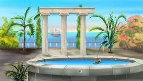Колоннада древнегреческия бесплатная иллюстрация