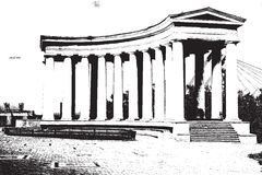 Колоннада иллюстрация штока