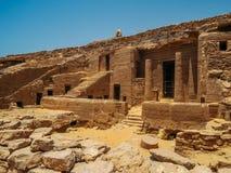 Колоннады и руины на виске Philae Стоковые Изображения