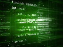 Код программы Стоковая Фотография