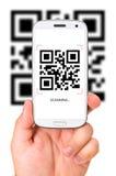 Код скеннирования QR стоковое фото