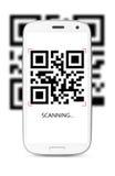 Код скеннирования QR стоковые фотографии rf