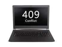 Код состояния HTTP - 409, конфликт Стоковое Изображение