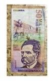 Колумбийская валюта на плитке Стоковые Фото