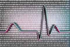 Код цифров ECG Стоковое фото RF