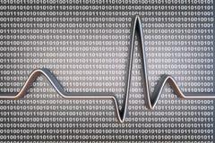 Код цифров ECG Стоковое Изображение RF