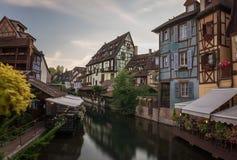 Кольмар, Франция, эльзасские дома Стоковая Фотография