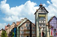Цветастое здание - Кольмар Tropicale Стоковое Фото