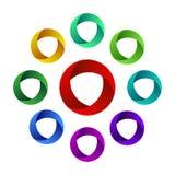 Кольца абстрактного дизайна красочные spheric EPS10 Стоковое Фото
