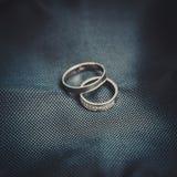2 кольца белого золота Стоковое фото RF