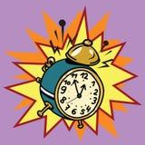 Кольца будильника, время иллюстрация штока
