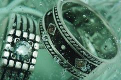 Кольца в воде Стоковые Изображения