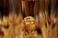 Кольца в стекле Шампани Стоковые Изображения RF