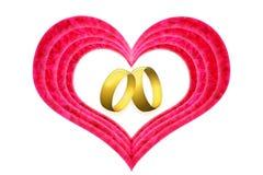 Кольца влюбленности Стоковые Фото