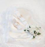 2 кольца золота свадьбы золота романско Стоковые Фото