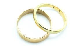 Кольца золота с диамантами Стоковое Изображение