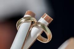 2 кольца золота Стоковые Фото