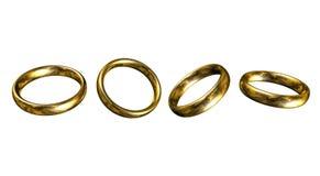 Кольца золота иллюстрация штока