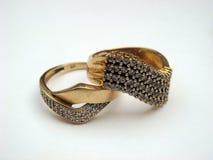 2 кольца золота Стоковые Изображения