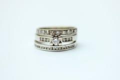 Кольца диаманта Стоковые Изображения RF