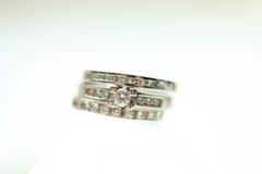 Кольца диаманта Стоковая Фотография RF