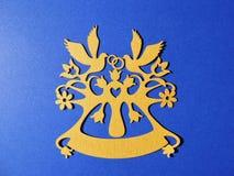 Кольца и голуби, бумажное вырезывание Стоковое Изображение RF